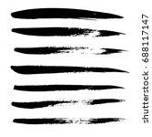 ink vector brush strokes set.... | Shutterstock .eps vector #688117147