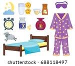 sleep icons vector illustration ... | Shutterstock .eps vector #688118497