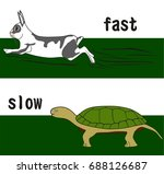 fast and slow opposition word...   Shutterstock .eps vector #688126687