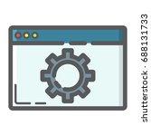 web optimization filled outline ...