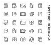 mini icon set   book icon... | Shutterstock .eps vector #688133257