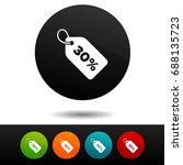 30  sale price tag sign icon.... | Shutterstock .eps vector #688135723