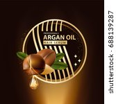 argan oil hair care protection... | Shutterstock .eps vector #688139287