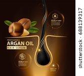 argan oil hair care protection... | Shutterstock .eps vector #688139317