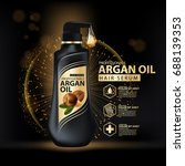 argan oil hair care protection... | Shutterstock .eps vector #688139353