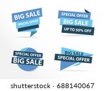 colorful shopping sale banner... | Shutterstock .eps vector #688140067