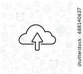 cloud upload line icon | Shutterstock .eps vector #688140637