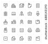mini icon set   office and... | Shutterstock .eps vector #688143193