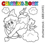 coloring book with cupid 1  ... | Shutterstock .eps vector #68814451