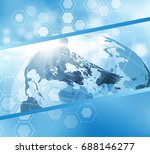 earth globe business background ... | Shutterstock .eps vector #688146277