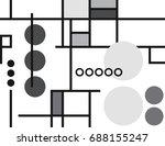 modern vintage seamless... | Shutterstock .eps vector #688155247
