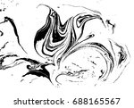 black and white liquid texture. ... | Shutterstock .eps vector #688165567