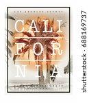 photo print california beach... | Shutterstock . vector #688169737