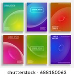 colorful abstract pattern... | Shutterstock .eps vector #688180063