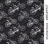 vintage pattern with hand drawn ... | Shutterstock .eps vector #688189927