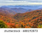 view of fall foliage and... | Shutterstock . vector #688192873