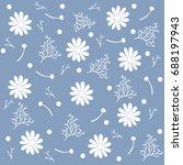 seamless chamomile pattern on... | Shutterstock .eps vector #688197943