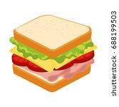 fast food design | Shutterstock .eps vector #688199503