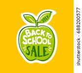 back to school sale lettering... | Shutterstock .eps vector #688200577