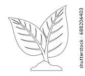 leaves eco symbol   Shutterstock .eps vector #688206403