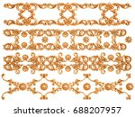 gold ornament on a white... | Shutterstock . vector #688207957