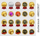 big collection set of champion  ... | Shutterstock .eps vector #688212817