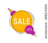 minimal style flat trendy... | Shutterstock .eps vector #688214203