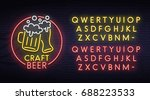 beer neon sign  bright... | Shutterstock .eps vector #688223533