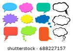 think bubble  colorful cloud of ... | Shutterstock .eps vector #688227157
