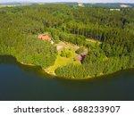 aerial view of recreational... | Shutterstock . vector #688233907