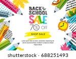 vector horizontal back to... | Shutterstock .eps vector #688251493
