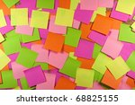 cork board with colored sticky... | Shutterstock . vector #68825155