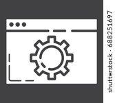 web optimization glyph icon ...