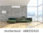 living room with air...   Shutterstock . vector #688252423