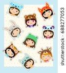 Kawaii Girls In Animals Hats....