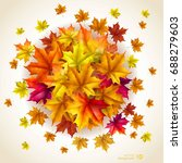 abstract autumn background.... | Shutterstock .eps vector #688279603