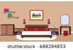 bedroom interior with... | Shutterstock . vector #688284853