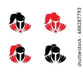 warrior knight titan sparta... | Shutterstock .eps vector #688287793