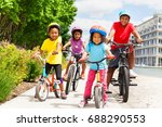 happy african children in... | Shutterstock . vector #688290553