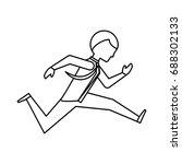 executive businessman cartoon | Shutterstock .eps vector #688302133