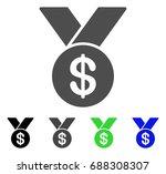 bestseller medal flat vector... | Shutterstock .eps vector #688308307