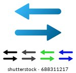 arrows exchange horizontal flat ... | Shutterstock .eps vector #688311217