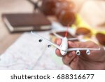 Small photo of Air travel, air travel, naturalization, concept