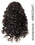 loose wave black human hair...   Shutterstock . vector #688322647