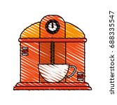 coffee making machine icon image | Shutterstock .eps vector #688335547