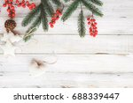 christmas theme background with ... | Shutterstock . vector #688339447