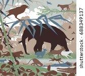 editable vector illustration of ... | Shutterstock .eps vector #688349137