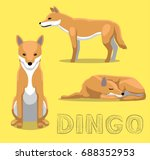 dog dingo cartoon vector... | Shutterstock .eps vector #688352953