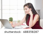 calculating the cost of postage ... | Shutterstock . vector #688358287