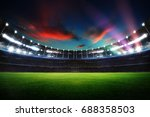empty night grand stadium with... | Shutterstock . vector #688358503